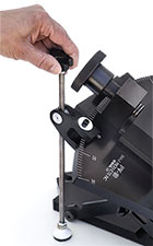 BHJ Compound Angle Piston Vise Fine Adjustment Attachment Detail